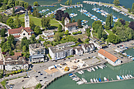 Switzerland, Thurgau, Aerial view of Romanshorn harbour - SH001042