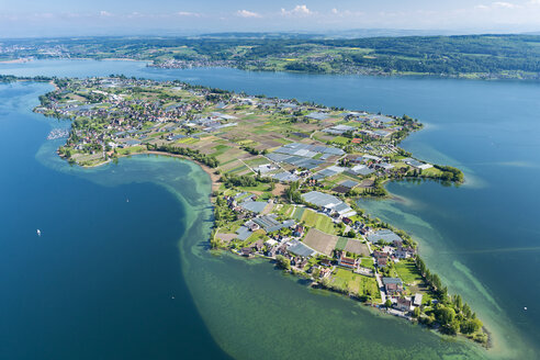 Germany, Baden-Wurttenberg, Reichenau Island, aerial view - SH001067