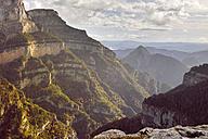 Spain, Pyrenees, Ordesa y Monte Perdido National Park, Canon de Anisclo with Sestrales Aloto and Bajo - LAF000280