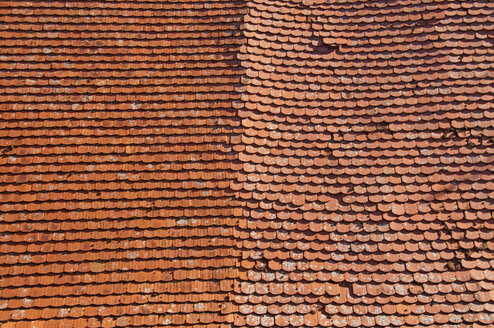 Part of an old roof with beaver tail tiles - WGF000101
