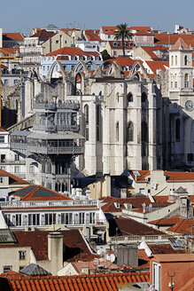 Portugal, Lisboa, view over Baixa and Chiado - BIF000089