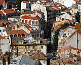 Portugal, Lisbon, Graca, Miradouro da Igreja da Graca, view over the roofs - BIF000115