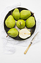 Pears and a knife in a bowl - LVF000356