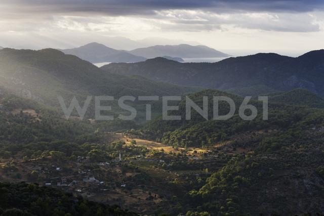 Turkey, Mugla, Village Kisla, View from mountain Bozburun Tepesi - SIEF004762