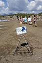Turkey, Dalyan, protective cage for eggs of the loggerhead turtle (Caretta caretta) on Iztuzu beach - SIE004750