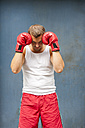 Boxer with red boxing gloves - PAF000086