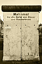 Germany, Lower Saxony, Hannover-List, memorial for the victims of the Berlin Wall - HOH000277