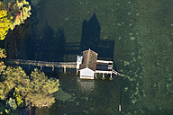 Germany, Baden-Wurttemberg, Bodman, Aerial View of old bathhouse - SH001156