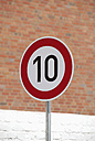 Germany, speed limit sign - VI000020