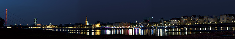 Germany, North Rhine-Westphalia, Duesseldorf, panorama by night - VI000179
