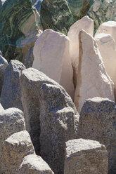 Germany, stones, solitary stone, granite, marble, quartz - WDF002114