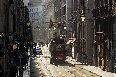 Portugal, Lisboa, Baixa, electrico on the way - BI000159