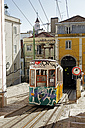Portugal, Lisboa, Bica, view to cable railway - BI000163