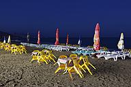 Turkey, Beach of Anamur at night - SIE004806