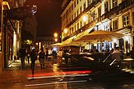 Portugal, Lisbon, Chiado, Rua Garrett by night - BI000152
