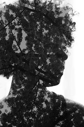 Female Afro-American, 3D rendering - NGF000076