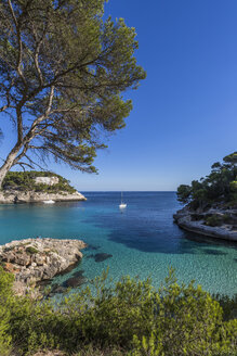 Spain, Balearic Islands, Menorca, Cala Mitjana - MAB000181