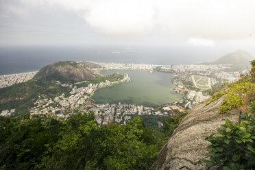 Brazil, Rio de Janeiro, Corcovado, View of the city - AMCF000017
