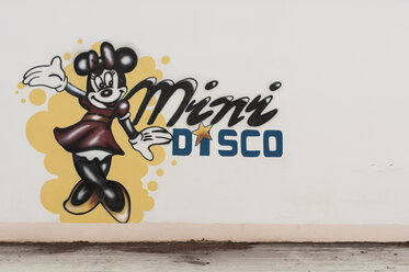 Croatia, Istria, Vrsar, Graffiti, Disco, Minni Mouse - KJ000280