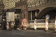 Germany, Berlin, Constraction site at Oberbaum bridge - CM000027