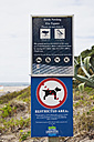New Zealand, Coromandel Peninsula, Bird and wildlife protection sign - GW002426
