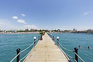 Turkey, Turkish Riviera, Antalya, Kundu, bathing jetty and Hotels Kremlin Palace, Topkapi Palace and Mardan Palace - SIE004835