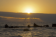 Spain, Canary Islands, Tenerife, Sunset above the ocean - WGF000133