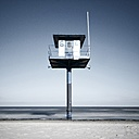 Germany, Mecklenburg-Western Pomerania, Usedom, lifeguard station at the beach - WAF000021