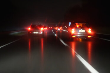 Driving by night at wintertime on motorway - NDF000408