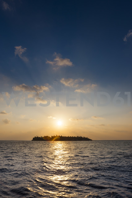 Maldives, Island at sunset - AMF001447