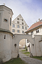 Germany, Baden-Wuerttemberg, Achberg, archway of Achberg Castle - HAF000235