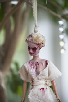 Hanged blood-smeared Barbie doll - HAF000236