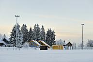 Germany, Thurinigia, Oberhof, Sports field in winter - BR000019