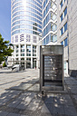 Germany, Hesse, Frankfurt, Financial District, Westend Tower, Sign with house number - AM001481