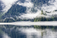 Canada, British Columbia, Khutzeymateen Valley, Khutzeymateen Provincial Park, fjord with fog - FOF005423