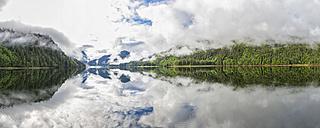 Canada, British Columbia, Khutzeymateen Valley, Khutzeymateen Provincial Park, fjord with fog - FOF005424