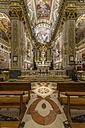Italy, Liguria, Santa Margherita Ligure, aisle of basilica Madonna della Rosa - AM001509