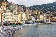 Italy, Liguria, Camogli, View of the lido - AM001518