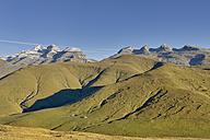 Spain, Aragon, Central Pyrenees, Ordesa y Monte Perdida National Park, Canon de Anisclo, View to Las Tres Marias - LAF000368