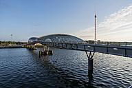 Great Britain, Scotland, Glasgow, River Clyde, bridge, Glasgow Science Centre - PAF000170