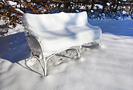 Germany, snow covered bench - HSIF000316