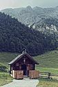 Austria, Tyrol, Karwendel Mountains, Risstal, Grosser Ahornboden, Eng-Alm, mountain cabin - GFF000329