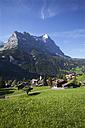 Switzerland, Bernese Oberland, Grindelwald with Eiger mountain - WWF002918
