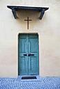 Switzerland, Poschiavo, Front door, close up - WWF002997