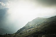 Italy, Province of Belluno, Veneto, Auronzo di Cadore, clouds near Tre Cime di Lavaredo - MJF000492