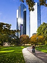 Germany, Hesse, Frankfurt am Main, Deutsche Bank Twin Towers - AM001612
