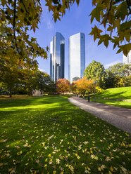 Germany, Hesse, Frankfurt am Main, Deutsche Bank Twin Towers - AMF001611