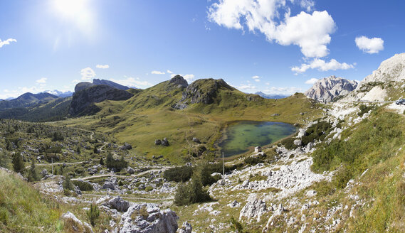 Italy, Veneto, Valparola Pass, Lago di Valparola - WWF003037