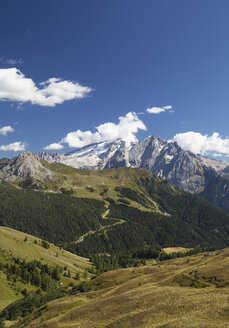 Italy, South Tyrol, View from Sella Pass to Marmolada - WW003089