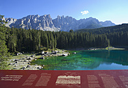 Italy, South Tyrol, Welschnofen, Karersee and Latemar group - WW003128